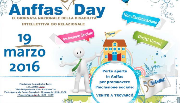 Anffas Open Day - IX Giornata nazionale della disabilita' intellettiva e/o relazionale.